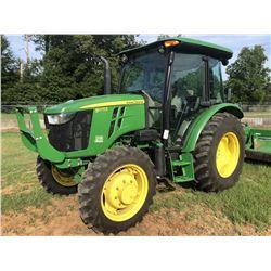 2016 JOHN DEERE 5075E FARM TRACTOR, VIN/SN:401027 - MFWD, (1) REMOTE, CAB, A/C, 16.9-28 REAR TIRES,