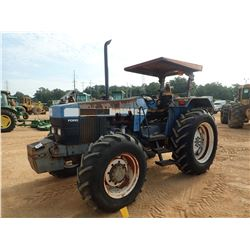 FORD FARM TRACTOR, VIN/SN:97U5782 - MFWD, 4 REMOTES, CANOPY, 16.9-34 TIRES (COUNTY OWNED)