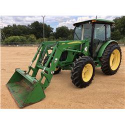 2009 JOHN DEERE 5095M FARM TRACTOR, VIN/SN:160217 - MFWD, 3 REMOTES, CAB, A/C, JOHN DEERE 563 FRONT