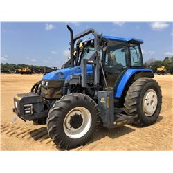 NEW HOLLAND TS110 FARM TRACTOR, VIN/SN:203113B - MFWD, (2) REMOTES, CAB, A/T, 18.4-30 REAR TIRES, 13