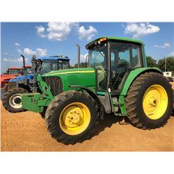 JOHN DEERE 6420 FARM TRACTOR, VIN/SN:376795 - MFWD, 2 REMOTES, CAB, A/C, 18.4-38 TIRES, METER READIN