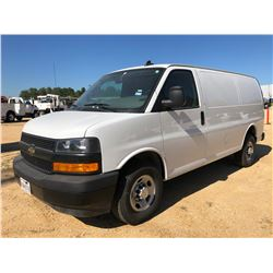 2018 CHEVROLET EXPRESS CARGO VAN, VIN/SN:1GCWGAFP6J1280311 - GAS ENGINE, A/T, ODOMETER READING 24,32