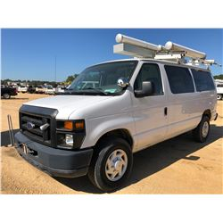 2008 FORD E350 CARGO VAN, VIN/SN:1FTSE34L78DB54872 - GAS ENGINE, A/T, ODOMETER READING 87,112 MILES