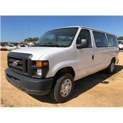 2008 FORD E150 XL PASSENGER VAN, VIN/SN:1FMNE11W38DB35490 - GAS ENGINE, A/T