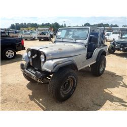 1978 JEEP CJ5 VIN/SN:J8F83AE152105 - 4X4, 6 CYL GAS ENGINE, 4 SPEED TRANS, ODOMETER READING 31,784 M