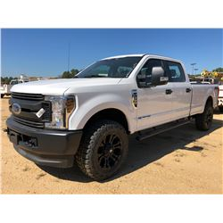 2018 FORD F350 PICKUP TRUCK, VIN/SN:1FT8W3BT8JEC33347 - 4X4, CREW CAB, POWERSTROKE ENGINE, A/T, ODOM