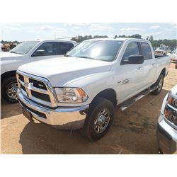 2017 DODGE RAM 2500 PICK UP, VIN/SN:3C6TR5DT2HG613210 - 4X4, CREW CAB, V8 GAS ENGINE, A/T, ODOMETER