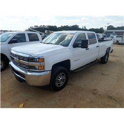 2016 CHEVROLET 2500HD PICK UP, VIN/SN:1GC1KUEG0GF231435 - 4X4, CREW CAB, V8 GAS ENGINE, A/T, ODOMETE