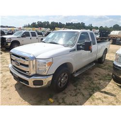 2014 FORD F250 PICK UP, VIN/SN:1FT7X2A6XEEB43119 - EXT CAB, V8 GAS ENGINE, A/T, ODOMETER READING 142