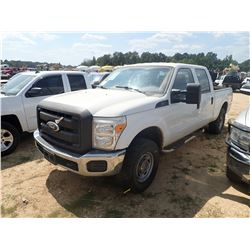 2011 FORD F250 PICKUP, VIN/SN:1FT7W2B66BEA43547 - 4X4, CREW CAB, GAS ENGINE, A/T, ODOMETER READING 1