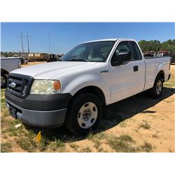 2008 FORD F150 PICKUP, VIN/SN:1FTRF12W58KC86893 - EXTRA CAB