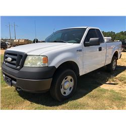 2008 FORD F150 PICKUP, VIN/SN:1FTRF14W58KD69852 - 4X4, EXTRA CAB, V8 GAS, A/T, ODOMETER READING 241,