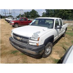 2007 CHEVROLET 2500HD PICK UP, VIN/SN:1GCHC23U97F195060 - CREW CAB, GAS ENGINE, A/T, ODOMETER READIN