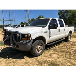 2007 FORD F250 PICKUP, VIN/SN:1FTSW21P37EB43682 - 4X4, CREW CAB, POWER STROKE DIESEL ENGINE, A/T, WI