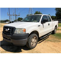 2007 FORD F150 PICKUP, VIN/SN:1FTPX14V17NA35343 - 4X4, EXT CAB, V8 GAS ENGINE, A/T, ODOMETER READING
