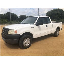 2005 FORD F150 PICKUP TRUCK, VIN/SN:1FTRX14W75FB72800 - 4X4, EXT CAB, V8 GAS, A/T, ODOMETER READING