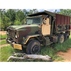 "1985 AM GENERAL MILITARY TRUCK, VIN/SN:NLOL730529-01205 - T/A, 6X6, DIESEL ENGINE, A/T, 15"" DUMP BOD"