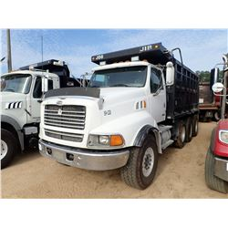 2000 STERLING DUMP, VIN/SN:2FZXESB1YAF53378 - TRI-AXLE, S60 DETRIOT DIESEL ENGINE, 10 SPEED TRANS, 4