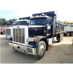 1990 PETERBILT 279 DUMP TRUCK, VIN/SN:1XP5D29X3LN288351 - T/A, CUMMINS ENGINE, 10 SPEED TRANS, 38K R