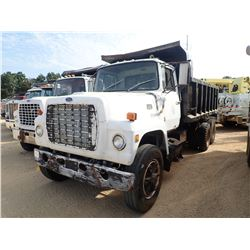 FORD 9000 DUMP TRUCK, - T/A, DETROIT ENGINE, ROADRANGER RT-6613 TRANS, 15' STEEL DUMP BODY, 10.0020