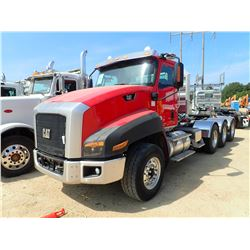2013 CAT CT660L TRUCK TRACTOR, VIN/SN:1HSJKTL7DJ201830 - TRI-AXLE, CAT CT15 ENGINE, 13 SPD TRANS, 40