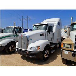 2009 KENWORTH T660 TRUCK TRACTOR, VIN/SN:1XKAD48X29J227056 - T/A, 455 HP CUMMINS ISX DIESEL ENGINE,