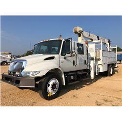 2007 INTERNATIONAL 4300 CRANE TRUCK, VIN/SN:1HTMMAAN37H399880 - S/A, CREW CAB, IHC DT466 ENGINE, 6 S