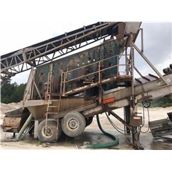 SAND PLANT, - COMPLETE SAND PLANT OPERATION W/ 36' X 100' RADIAL STACKER WITH POWER TRAVEL, ENVIRO P