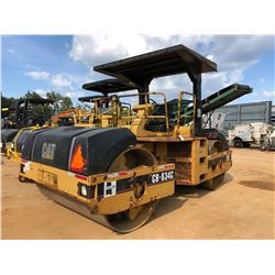 """CAT CB-634C ROLLER, VIN/SN:3BR00380 - TANDEM, 84"""" SMOOTH DRUMS, VIBRATORY, CANOPY, METER READING 4,5"""