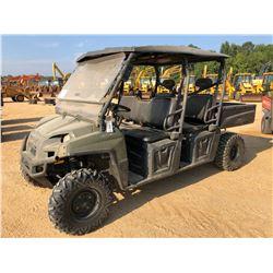 2014 POLARIS 800 RANGER CREW UTV, VIN/SN:4XAWH76A8E25526214X4 - GAS ENGINE, CANOPY, WINDSHEILD, DUMP