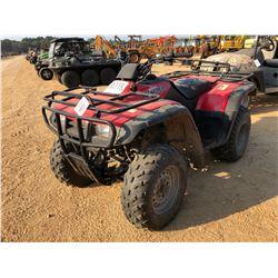 2002 HONDA RANCHER ATV VIN/SN:478TE24052A200043