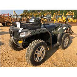 2009 POLARIS 550 SPORTSMAN ATV, VIN/SN:4XAZX55A79A750883 - 4X4, GAS ENGINE, METER READING 74 HOURS