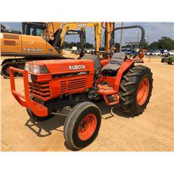 KUBOTA L4300F FARM TRACTOR, VIN/SN:10975 - ROLL BAR, METER READING 662 HOURS