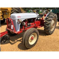 1952 FORD 8N FARM TRACTOR, - GAS ENGINE, 12.4-28 REAR TIRES