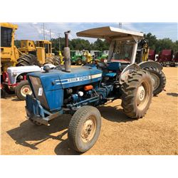 FORD 3600 FARM TRACTOR, VIN/SN:494108 - 1 REMOTE, CANOPY, 13.6-28 TIRES, METER READING 3,967 HOURS