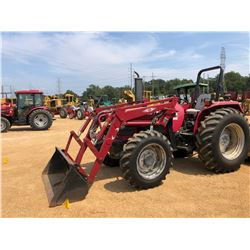 MAHINDRA 6500 FARM TRACTOR, VIN/SN:PS-1055 - MFWD, 2 REMOTES, TAS ML360 FRONT LOADER ATTACHMENT, ROL