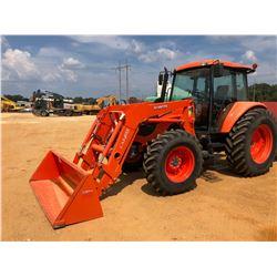 KUBOTA M108S FARM TRACTOR, VIN/SN:74350 - MFWD, (2) REMOTES, KUBOTA LA1403 FRONT LOADER ATTACH, BUCK