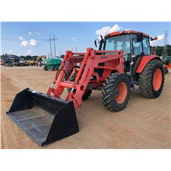 KUBOTA M108X FARM TRACTOR, VIN/SN:A0996 - MFWD, 2 REMOTES, CAB, A/C, 18.4R34 REAR TIRES 13.6R24. FRO