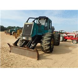 TIMBERJACK 360D SKIDDER, VIN/SN:985644 - GRAPPLE, SINGLE ARCH, WINCH, CAB, A/C, 28L-26 TIRES, METER