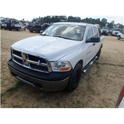 2011 DODGE 1500 PICK UP, VIN/SN:1D7RV1CP6BS687537 - 4X4, CREW CAB, V8 GAS ENGINE, H/T, ODOMETER READ