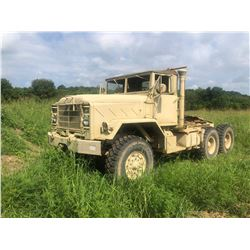 HARSCO M931A2 MILITARY TRUCK, VIN/SN:31/02981 - 5-TON, 6X6, DIESEL ENGINE, A/T, 5TH WHEEL, ODOMETER