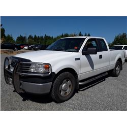 K5 --  2008 FORD F150 EXT CAB 4X4 , White , 150803  KM's
