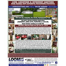 OVER 300 LOTS LIVE AUCTION AT LOCATION  L& G/TOOLS / SHOP