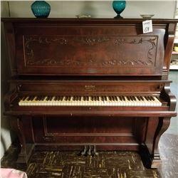 EARLY 1900 SCHILLER UPRIGHT GRAND PIANO