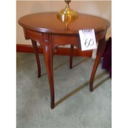 VINTAGE ROUND TAPERED LEG LAMP TABLE