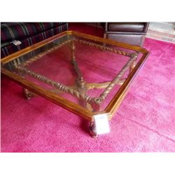 4 FOOT SQUARE COFFEE TABLE