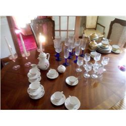 LOT OF GLASSWARE / CHINA