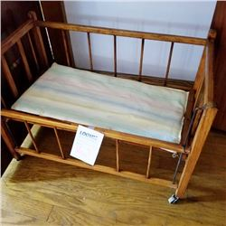 ANTIQUE CHILD'S BABY DOLL CRIB