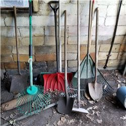 SNOW SHOVELS AND LAWN TOOLS