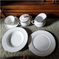 SERVICE FOR 19, FURSTENBERG DIANA FINE CHINA, 1960S